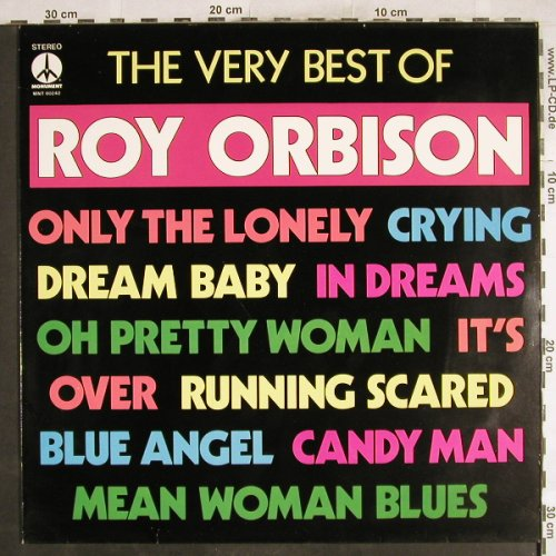 Orbison,Roy: The Very Best Of, Monument(MNT 80 242), NL, 1974 - LP - H7136 - 5,50 Euro