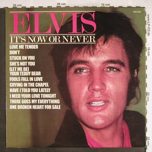 Presley,Elvis: It's Now Or Never, vg+/m-, Camden(CDS 1203), UK,  - LP - H7160 - 4,00 Euro