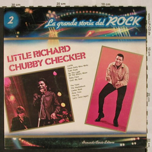 Little Richard  / Chubby Checker: La Grande Storia Del Rock 2, Curcio(GSR-2), I, Foc,  - LP - H7161 - 5,00 Euro