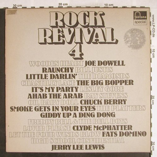 V.A.Rock Revival 4: The Big Bopper...Bill Justis, Fontana Special(6430 029), NL,  - LP - H7167 - 4,00 Euro