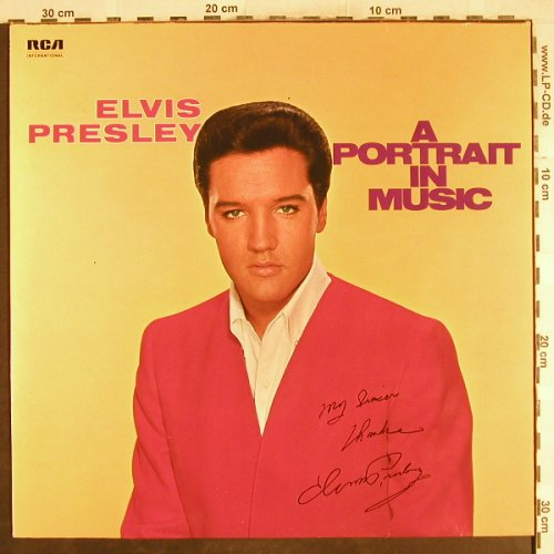 Presley,Elvis: A Portrait In Music, RCA(NL 89 103), D, Ri, 1973 - LP - H7175 - 6,00 Euro