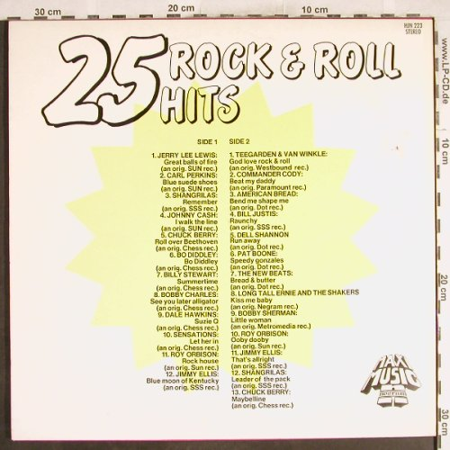 V.A.25 Rock'n'Roll Hits: Jerry Lee Lewis...Chuck Berry, Maxi Music(HJN 223), NL,  - LP - H7186 - 4,00 Euro