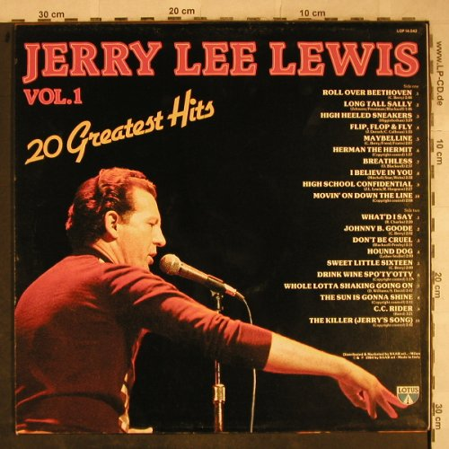 Lewis,Jerry Lee: 20 Greatest Hits, Vol.1, Lotus(LOP 14.042), I, 1984 - LP - H9397 - 5,50 Euro