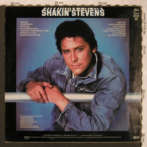 Shakin'Stevens: Hot Dog, m-/vg+, Epic(EPC 32126), NL, 1982 - LP - X1943 - 5,00 Euro