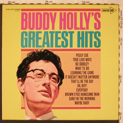 Holly,Buddy: Greatest Hits,stereo simulated, Coral(COPS 1007), D,  - LP - X2398 - 4,00 Euro