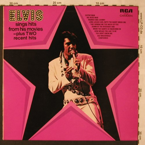 Presley,Elvis: Sings Hits From His Movie, RCA Camden(CDS 1110), F/UK, 1972 - LP - X2443 - 6,00 Euro