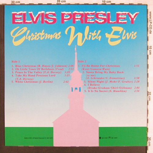 Presley,Elvis: Christmas with Elvis, vg+/m-, World Music(AR 31087), EEC, 1987 - LP - X3680 - 5,00 Euro