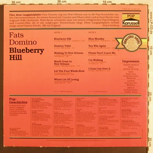 Domino,Fats: Blueberry Hill, Karussell(2872 118), D,  - LP - X3859 - 3,00 Euro