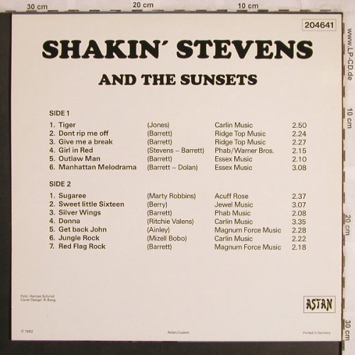 Shakin'Stevens: The Early Days, Astan(204641), D, 1982 - LP - X4093 - 5,50 Euro