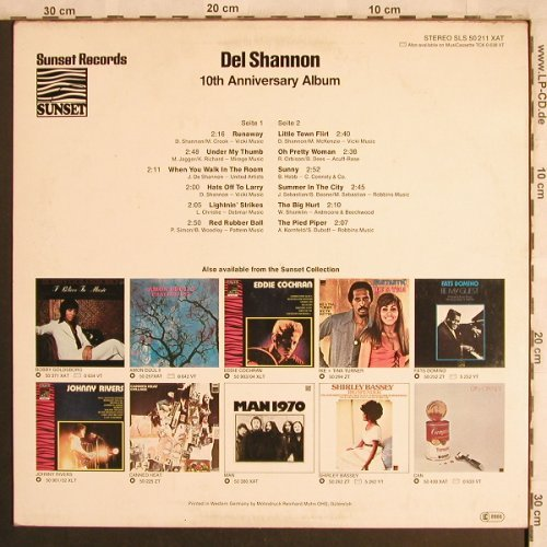 Shannon,Del: 10th Anniversary Album, Sunset(SLS 50 211 XAT), D, 1977 - LP - X4181 - 5,00 Euro