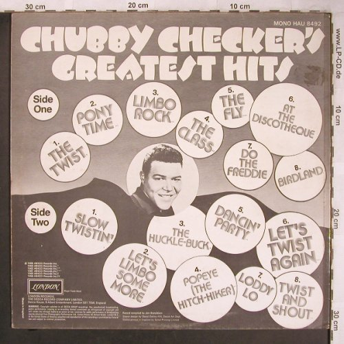 Checker,Chubby: Greatest Hits, Ri, London(HAU 8492), UK,  - LP - X4796 - 5,00 Euro