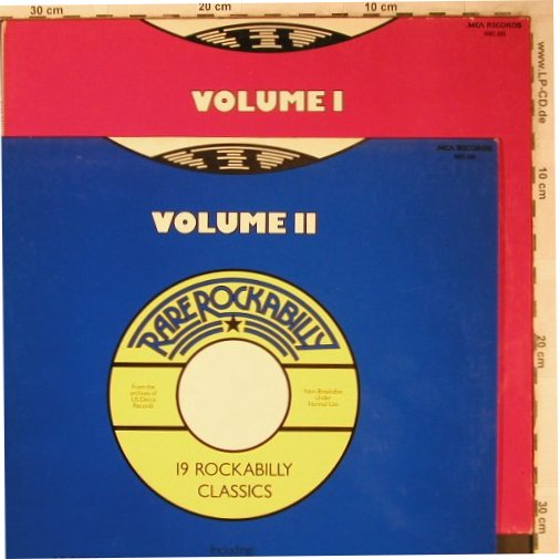 V.A.Rare Rockabilly Vol.1+2: Johnny Carol...Lou Graham, MCA(20/19Tr.)(0062.088/089), D, 1977 - LP*2 - X5052 - 7,50 Euro