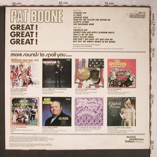 Boone,Pat: Great ! Geat ! Great, m-/vg+, Contour(), UK, Ri, 1972 - LP - X5256 - 5,50 Euro