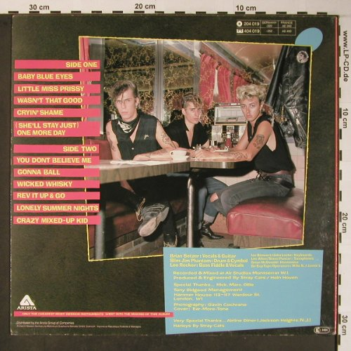 Stray Cats: Gonna Ball, m-/vg+, Arista(204 019-270), D, 1981 - LP - X5944 - 6,00 Euro
