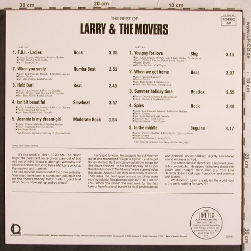 Larry & the Movers: The Best Of, Line(6.24592 AP), D, 1981 - LP - X606 - 5,50 Euro