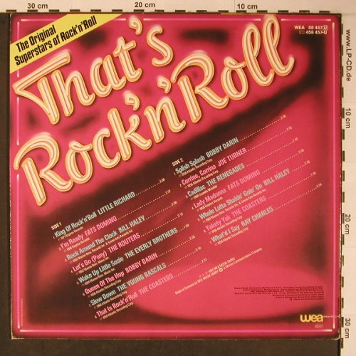 V.A.That's Rock'n'Roll: Little Ritchard...Ray Charles, WEA(WEA 58 457), D, Co, 1982 - LP - X6101 - 5,00 Euro