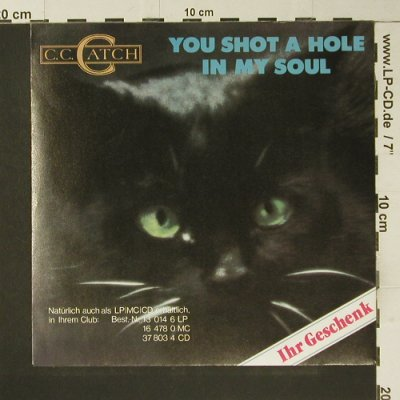 C.C.Catch: You Shot a Hole in my Soul-FLEXI, Hansa(13 423 9), D,  - 7inch - S7375 - 2,50 Euro