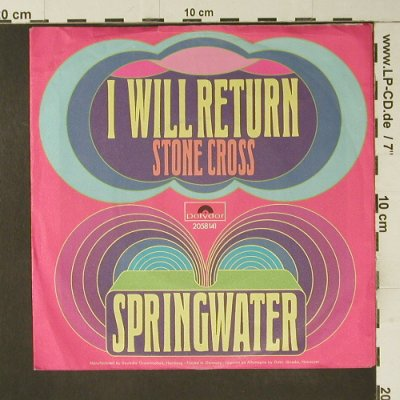 Springwater: I will Return, m-/vg+, Polydor(2058 141), D, 1971 - 7inch - S7424 - 2,50 Euro