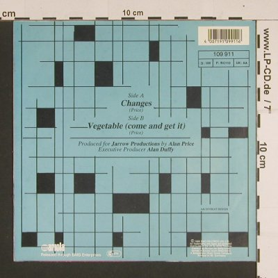 Price,Alan: Changes/Vegetable, Ariola(109 911), D, 1988 - 7inch - S7586 - 4,00 Euro