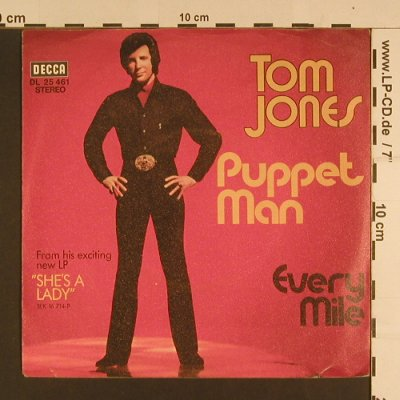 Jones,Tom: Puppet Man, Decca(DL 25 461), D,  - 7inch - S7655 - 2,50 Euro
