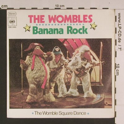 Wombles, The: Banana Rock / Womble Square Dance, CBS(2465), D, 1974 - 7inch - S7678 - 2,50 Euro