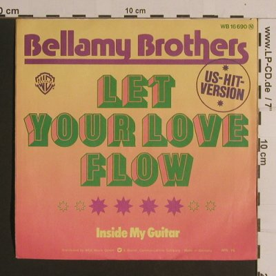 Bellamy Brothers: Let Your Love Flow / Inside My Guit, WB(16 690), D, woc, 1976 - 7inch - S7886 - 3,00 Euro