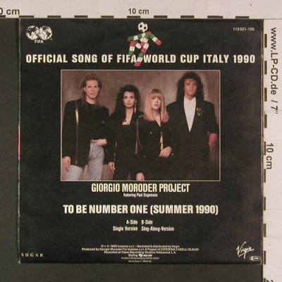 Moroder Project,Giorgio/P.Engemann: To be number one(summr1990), Sugar/Virgin(113 021-100), D, 1990 - 7inch - S7983 - 3,00 Euro
