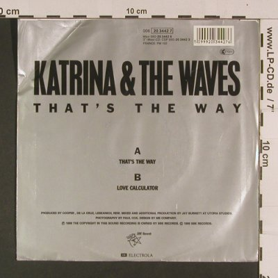 Katrina & the Waves: That's the way/Love Calculator, SBK Rec/EMI(20 3442 7), EEC,m-/vg+, 1989 - 7inch - S7988 - 2,50 Euro