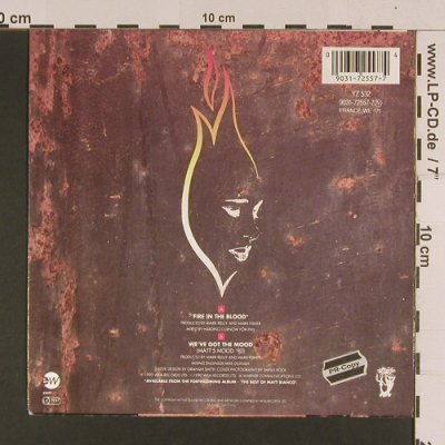 Matt Bianco: Fire in the Blood, WEA(YZ 532), D, 1990 - 7inch - S7989 - 2,50 Euro