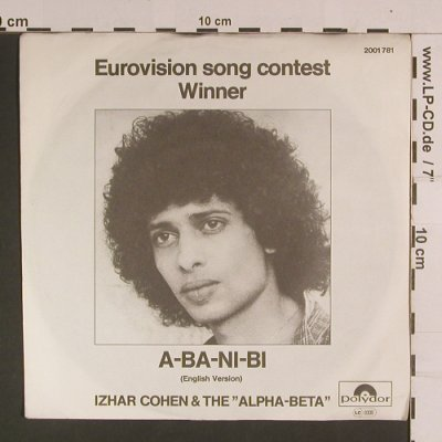 "Cohen,Izhar & The ""Alpha-Beta"": A-Ba-Ni-Bi (English) / Illusions, Polydor(2001 781), D, 1978 - 7inch - S8112 - 2,50 Euro"
