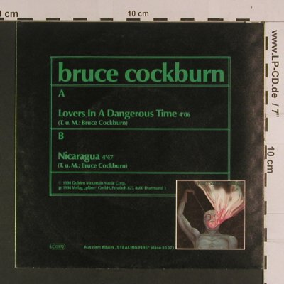 Cockburn,Bruce: Lovers in a dangerous Time, Pläne(88 372), D, 1984 - 7inch - S8120 - 3,00 Euro