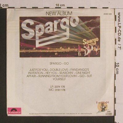 Spargo: Just For You / Fandango's Invitatio, Polydor(2040 320), D, 1981 - 7inch - S8233 - 2,50 Euro