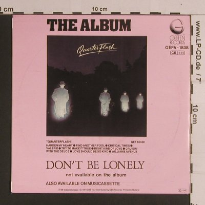 Quarterflash: Harden My Heart / Don't Be Lonely, Geffen(GEFA-1838), NL, 1981 - 7inch - S8287 - 3,00 Euro