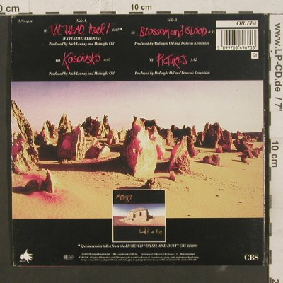 Midnight Oil: The Dead Heart, Foc, 4 Tr., CBS(OIL EP4), UK, 1989 - EP - S8399 - 4,00 Euro