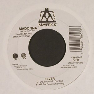 Madonna: Bad Girl / Fever, LC, Maverick(7-18650), US, 1992 - 7inch - S8623 - 4,00 Euro