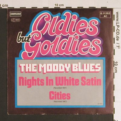 Moody Blues: Nights in White Satin/Cities, Deram-Oldies but Goldies(6.11262 AC), D,  - 7inch - S8734 - 2,50 Euro