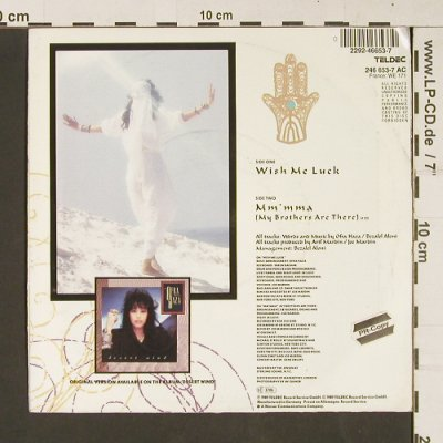 Haza,Ofra: Wish me Luck / Mm'mma, Teldec(246 653-7 AC), D, 1989 - 7inch - S9109 - 2,50 Euro
