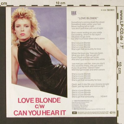 Wilde,Kim: Love Blonde / Can You Hear It, RAK(1651857), D, 1983 - 7inch - S9162 - 3,00 Euro
