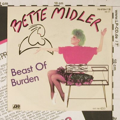 Midler,Bette: Beast Of Burden / Come Back,J.Dean, Atlantic(78-9759-7), D, 1983 - 7inch - S9263 - 2,00 Euro
