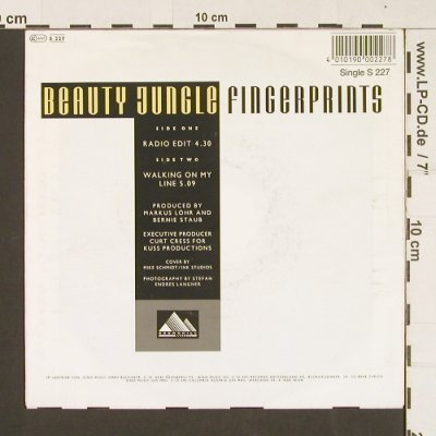 Beauty Jungle: Fingerprints, Crownhill/Dino(S 227), , 1991 - 7inch - S9317 - 2,50 Euro