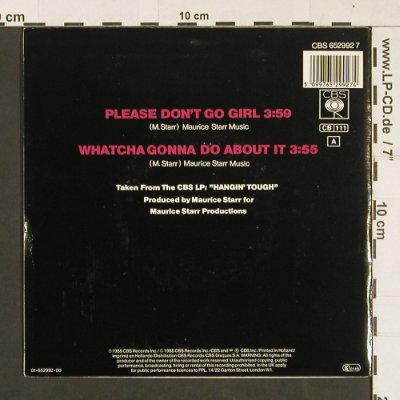 New Kids on the Block: Please don't go girl, CBS(652992 7), NL, 1988 - 7inch - S9322 - 2,50 Euro