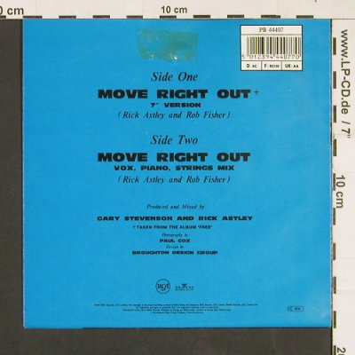 Astley,Rick: Move Right out, RCA(PB 44407), D, 1991 - 7inch - S9342 - 2,50 Euro