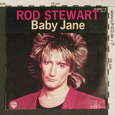 Stewart,Rod: Baby Jane / Ready Now, WB(92-9608-7 N), D, co, 1983 - 7inch - S9426 - 2,50 Euro