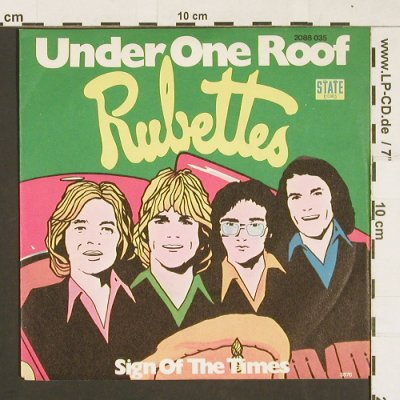 Rubettes: Under One Roof/Sign of the Times, State(2088 035), D, 1976 - 7inch - S9516 - 1,50 Euro