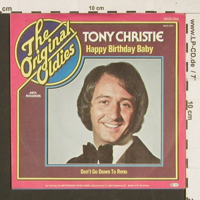 Christie,Tony: Happy Birthday Baby, MCA(0032.054), D, 1972 - 7inch - S9528 - 2,00 Euro