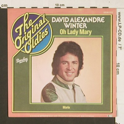 Winter,David Alexandre: Oh Lady Mary / Maria, Ri, Barclay(0036.033), D, 1968 - 7inch - S9530 - 2,00 Euro