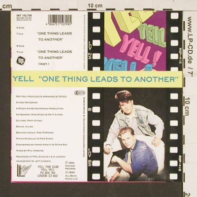 Yell: One thing leads to another*2,Poster, Blow Up(INT 110.799), D,redVinyl, 1990 - 7inch - S9532 - 3,00 Euro