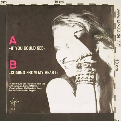Sanne: If you could see / Coming from my H, Virgin(113 842), D, 1990 - 7inch - S9538 - 2,50 Euro