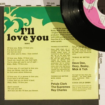 Dee,Dave - I lave You + V.A.: Petula Clark,Supremes, RayCharles, Coca Cola(105 112), D, 1967 - EP - S9753 - 4,00 Euro