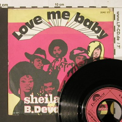 Sheila & B.Devotion: Love Me Baby *2 ,instrum., Polydor(2040 177), D, 1977 - 7inch - S9815 - 2,00 Euro